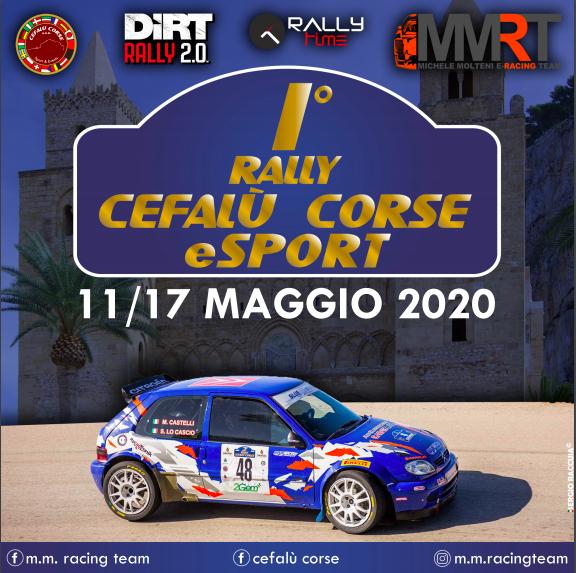 Locandina Rally Cefalù Corse eSport